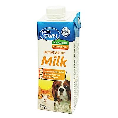 Pets OWN 澳洲寵物專屬牛奶 犬貓通用 250ml 三罐組