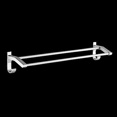 AA085-90cm 加厚雙桿 免打孔無痕太空鋁毛巾架/毛巾桿