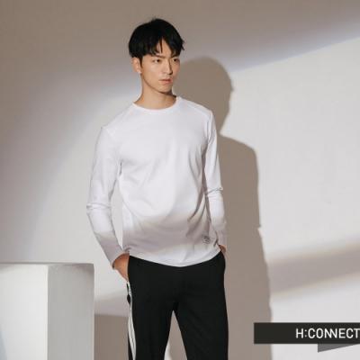 H:CONNECT 韓國品牌 男裝-休閒純棉長袖上衣-白