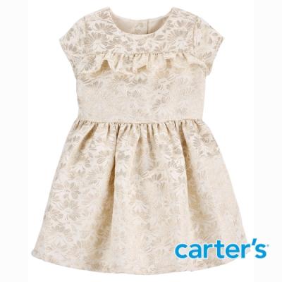 【Carter s】緹花梭織氣質短袖洋裝(2T-5T)  (台灣總代理)