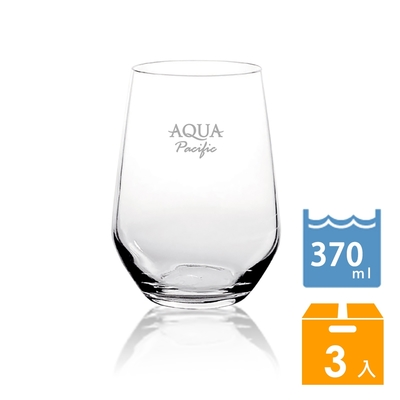 【AQUA PACIFIC斐濟太平洋】晶透玻璃杯3入