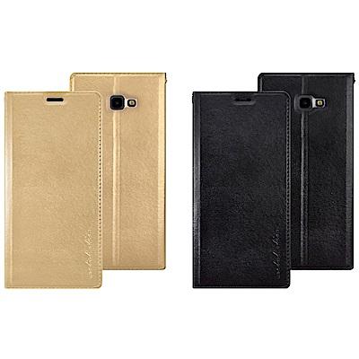 Metal-Slim Samsung Galaxy J4+ 仿小牛皮TPU皮套