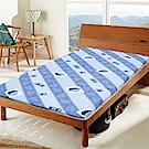 Gloria 好葉冬夏兩用折疊雙人 5尺透氣床墊-藍色