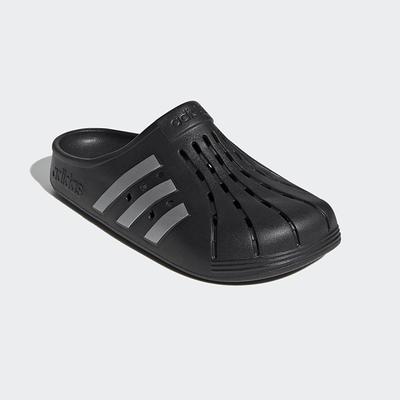 ADIDAS_男_女_包頭拖鞋_懶人鞋_黑色_ADILETTE CLOG_FY8969