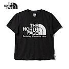 The North Face北面女款黑色吸濕排汗寬版短袖T恤|46GFJK3