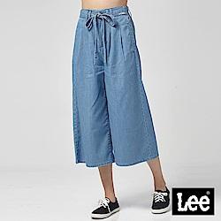 Lee 牛仔寬褲/中藍色