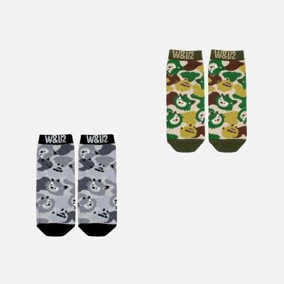 WHY AND 1/2 mini 迷彩短襪 多色可選