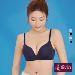 Olivia 無鋼圈3D無痕輕內衣-藍色