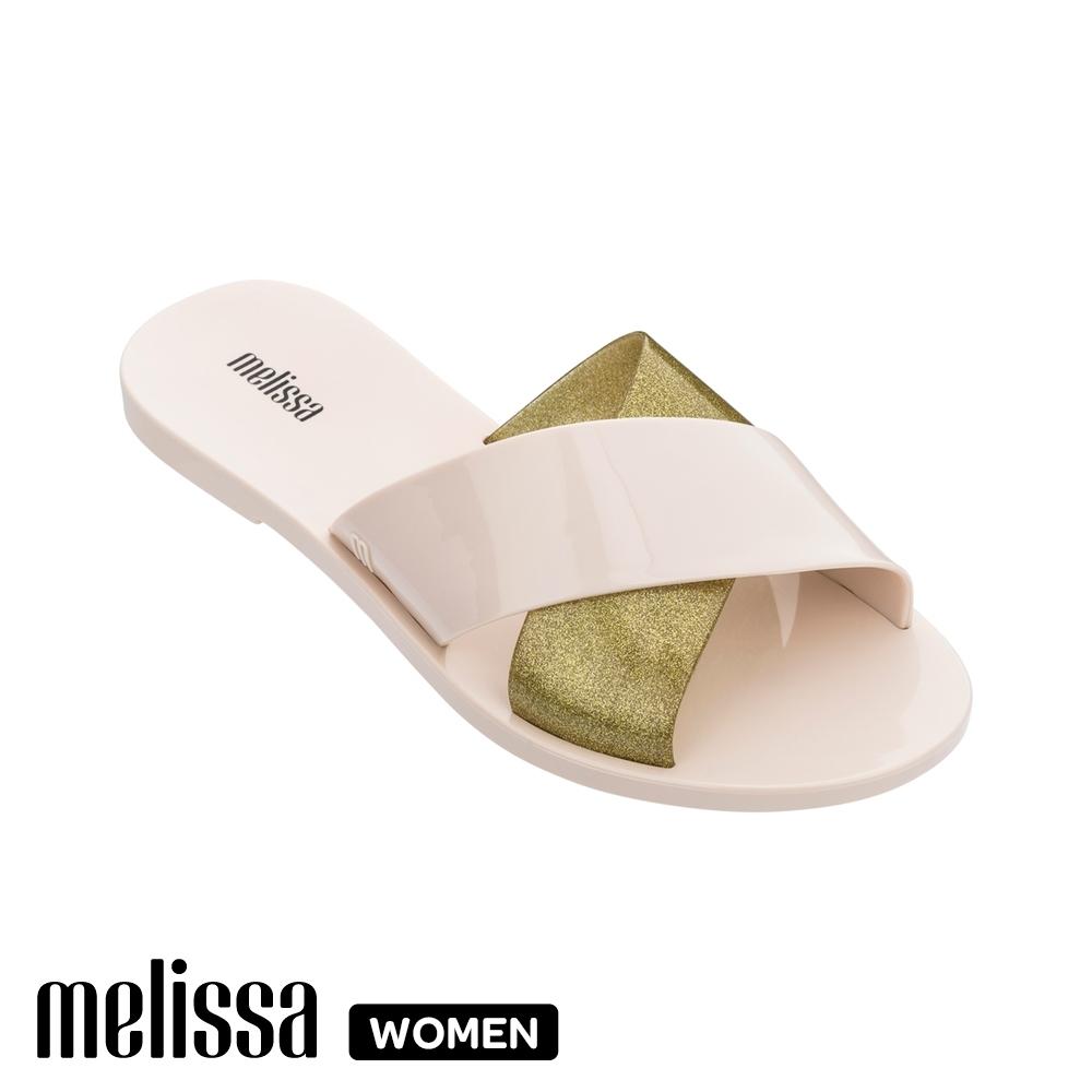 Melissa撞色交叉拖鞋 粉