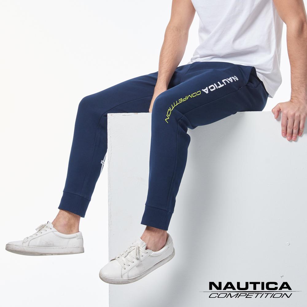 Nautica COMPETITION系列吸濕快乾休閒長褲-藍色