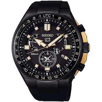 SEIKO精工 Astron GPS衛星校時喬科維奇限量鈦金屬太陽能錶(SSE174J)