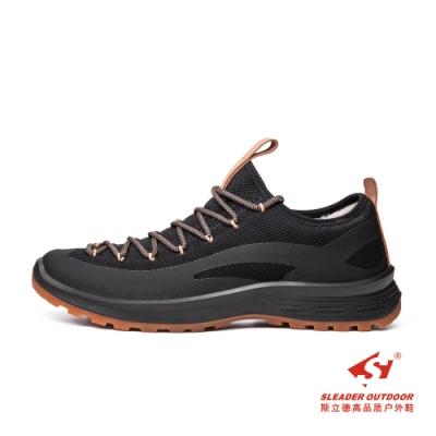 SLEADER-緩震防滑透氣網布舒適休閒鞋-M51-黑