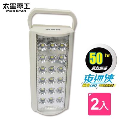 太星電工  夜巡俠超亮LED充電式照明燈(2入)  IF600*2