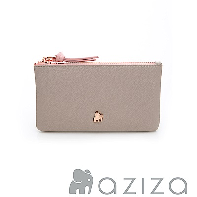 AZIZA 鑰匙零錢包-灰
