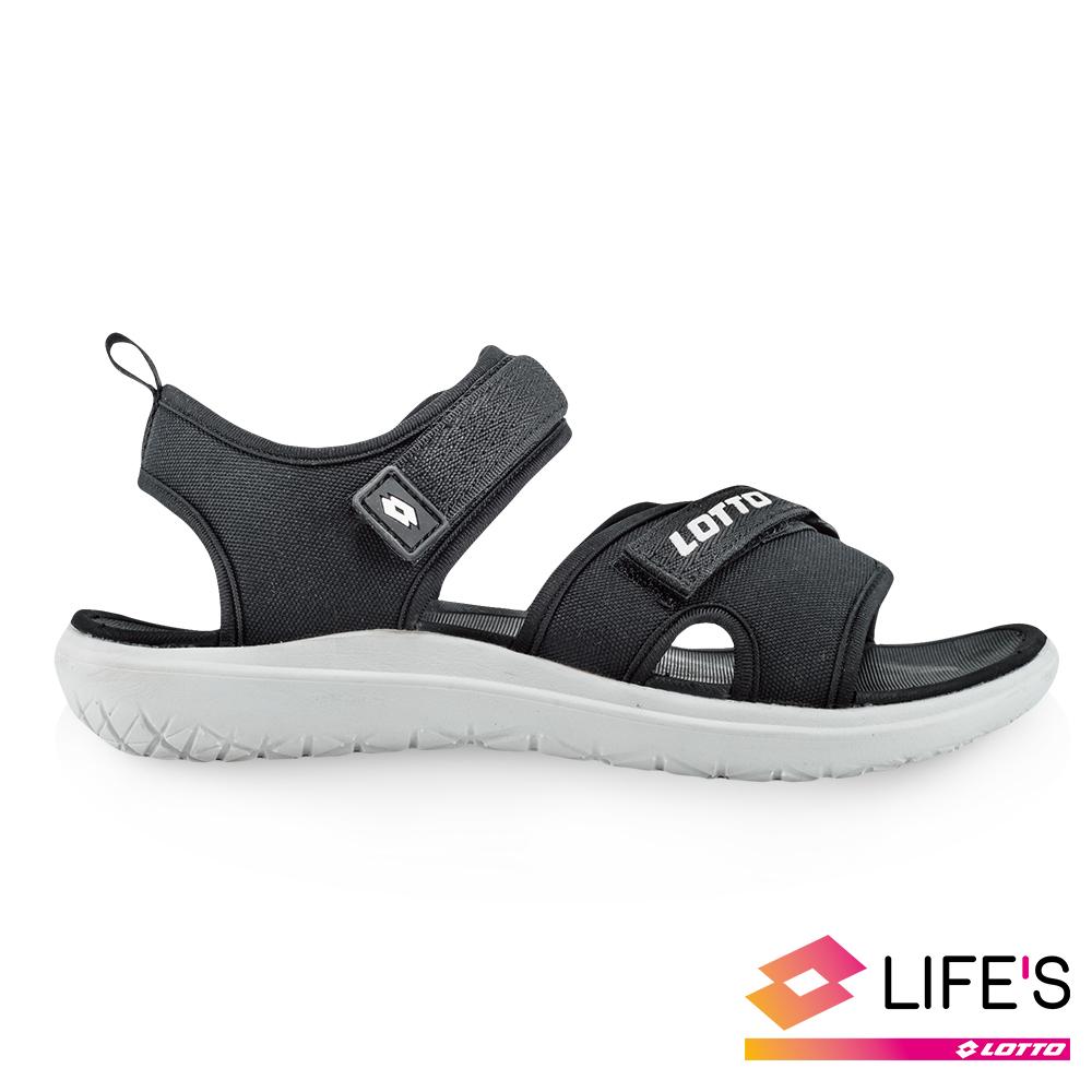 LOTTO 義大利 女 輕羽量休閒涼鞋 (黑)