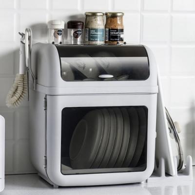 木暉 3in1日式雙層碗盤瀝水收納櫃