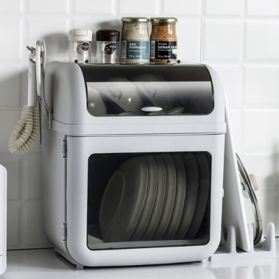 木暉 3in1日式雙層碗盤瀝水收納櫃[限時下殺]