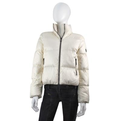 MICHAEL KORS 黑色圓標Logo輕量夾克型羽絨外套(骨磁白)