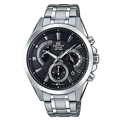 CASIO 典藏賽車設計風格不鏽鋼腕錶-黑面(EFV-580D-1A)/42mm