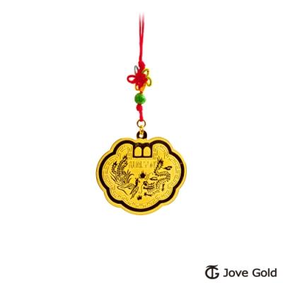 Jove Gold 漾金飾 長命富貴黃金鎖片-1.5錢