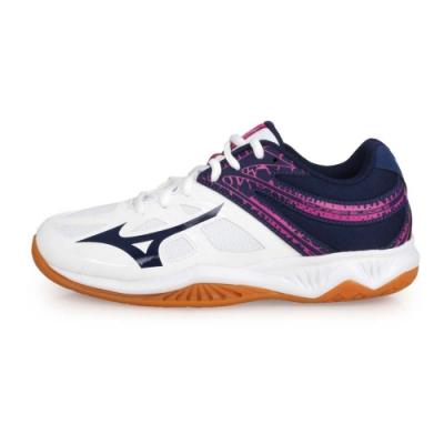 MIZUNO 男女 排球鞋 THUNDER BLADE 2 白深藍紫