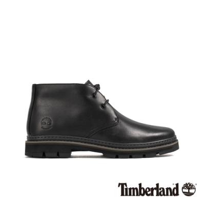 Timberland 男款黑色全粒面革靴|A291B