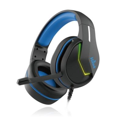 Hawk RGB發光頭戴電競耳麥 G5200