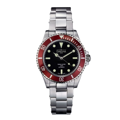 DAVOSA 161.525.60 TERNOS SIXTIES 60 年代復刻專業潛水自動錶/勃根地酒/鋼帶/40mm