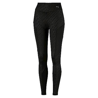 PUMA-女性訓練系列Bold印花緊身褲-黑色-歐規
