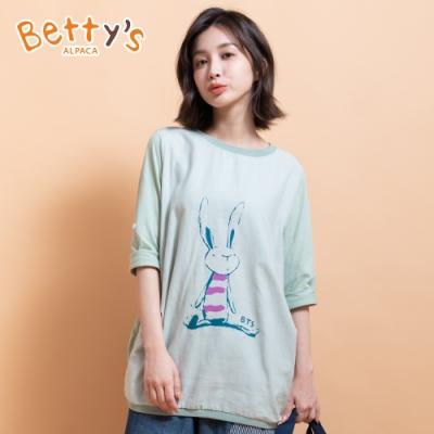 betty's貝蒂思 圓領兔子印花T-shirt(粉綠色)