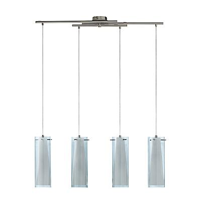 EGLO歐風燈飾 現代風四燈式玻璃大吊燈(不含燈泡)