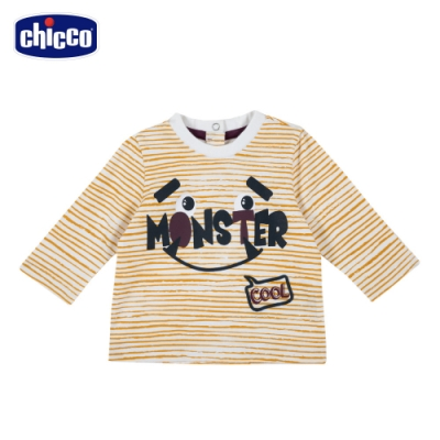 chicco-TO BE Baby-條紋怪獸長袖上衣