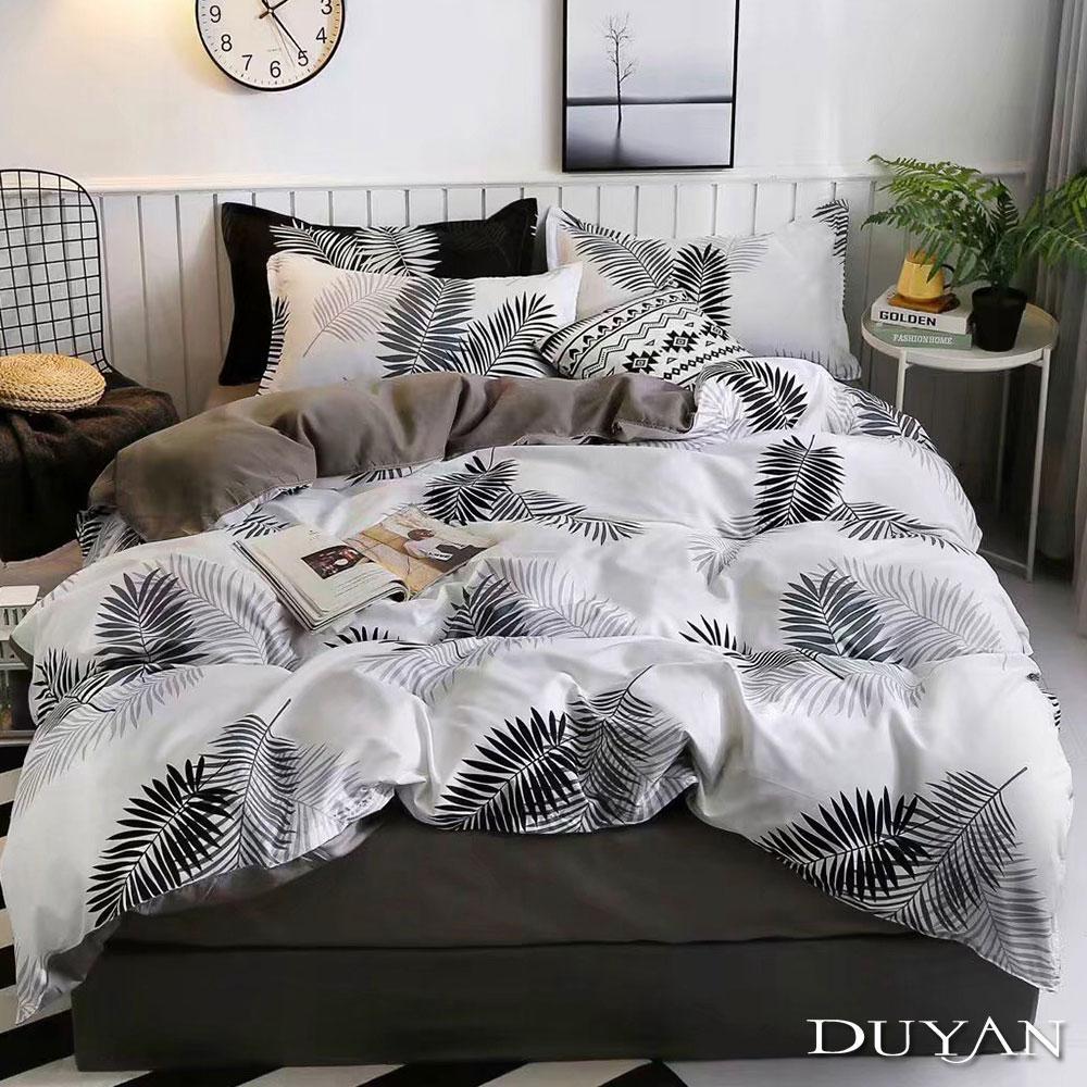 DUYAN竹漾 MIT 天絲絨-雙人床包枕套三件組-時光葉語