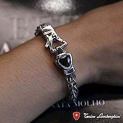 藍寶堅尼Tonino Lamborghini SCUDO Black手環 手鍊