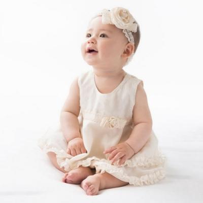 【Amorosa Mamma】有機棉蕾絲花朵女嬰兒童髮帶-玫瑰花
