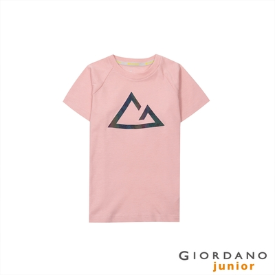 GIORDANO 童裝G-motion快乾棉T恤 - 33 銀粉紅