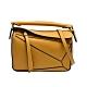 LOEWE PUZZLE BAG系列小牛皮幾何拼接設計手提/肩背包(迷你-芥末黃色) product thumbnail 1