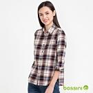 bossini女裝-格紋襯衫02褐色
