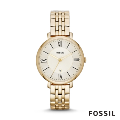 FOSSIL JACQUELINE 金色系不鏽鋼女錶