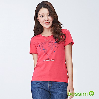 bossini女裝-印花短袖T恤08霓虹粉