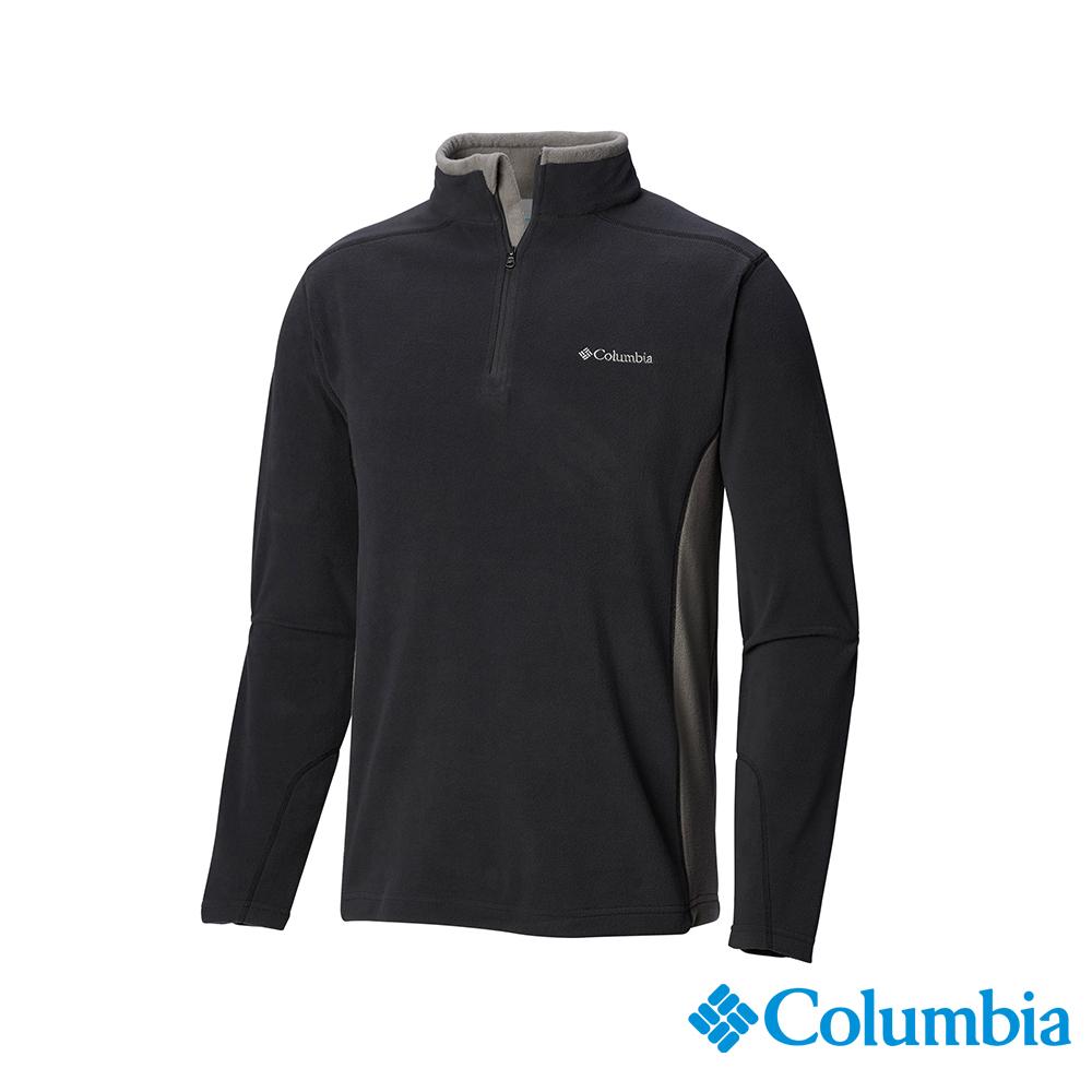 Columbia 哥倫比亞 男款-半開襟上衣-深灰 UEE65030DY