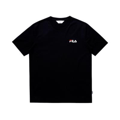 FILA 圓領上衣-黑 1TEU-1504-BK
