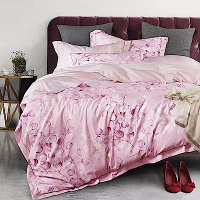 戀家小舖 / 雙人加大床包被套組  粉色玫瓣  3M頂級天絲  吸濕排汗專利
