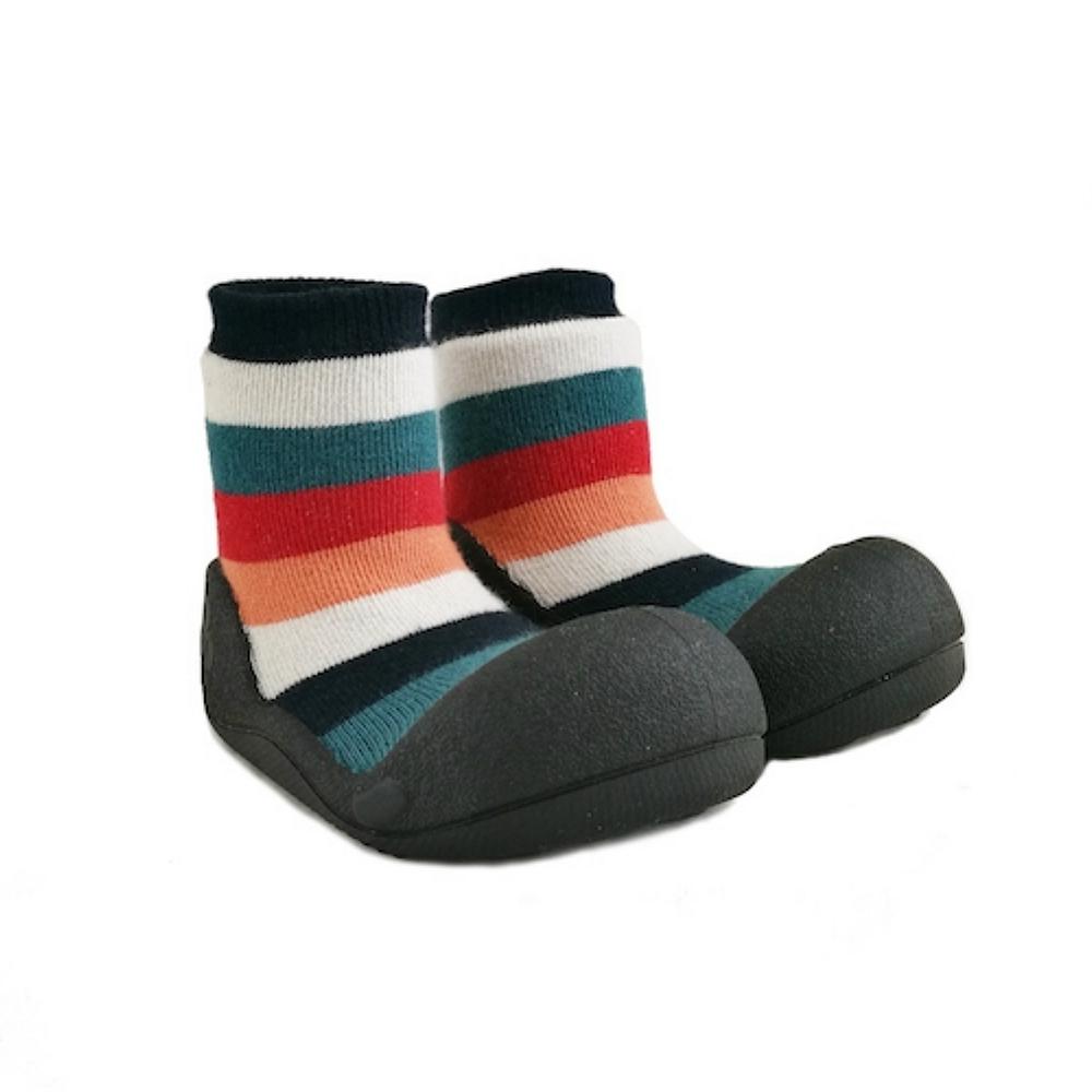 韓國Attipas 快樂學步鞋ASR01-彩紅黑底