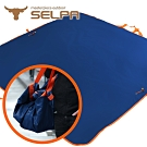 韓國SELPA 多功能地墊萬用袋/野餐墊/地墊/工具包/野餐包(寶藍色)
