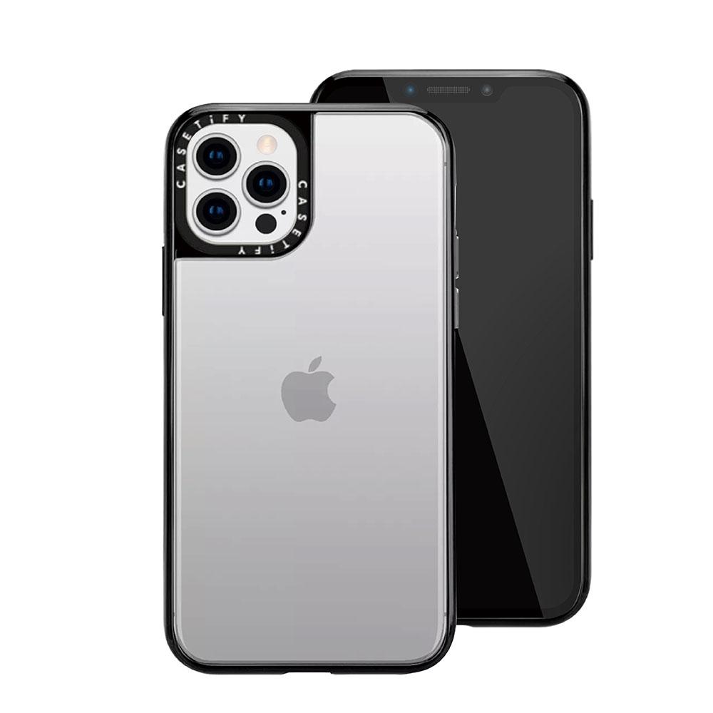 Casetify iPhone 12 Pro Max 輕量耐衝擊保護殼-透黑