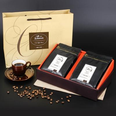 CoFeel 凱飛鮮烘豆手提一磅凱飛極鮮豆印尼黃金曼特寧中深烘焙咖啡豆禮盒