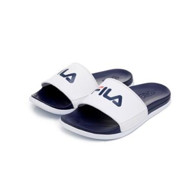FILA SLEEK TENDER 中性拖鞋-白 4-S631U-422
