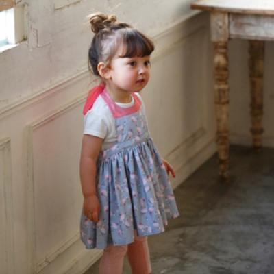 MARLMARL兒童用餐圍裙 女孩/Flamingo(Baby 80-90cm)