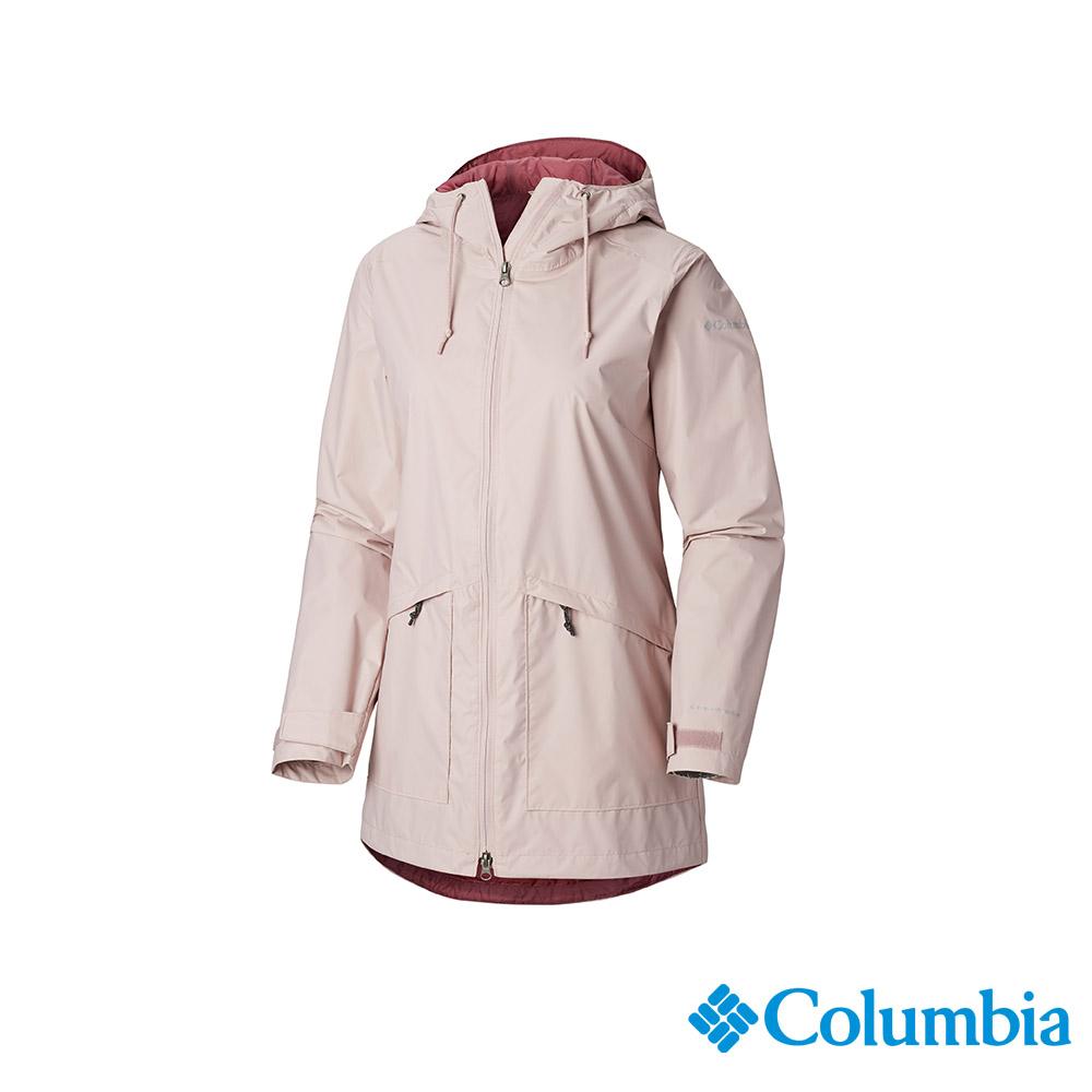 Columbia 哥倫比亞 女款-OT防水長版外套-粉紅 UWL01660PK